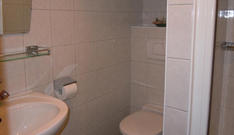 Dusche und WC Fewo Miesenberger