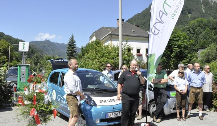 Stromtankstelle Steyrling (© Energieautarke Region Pyhrn-Priel)