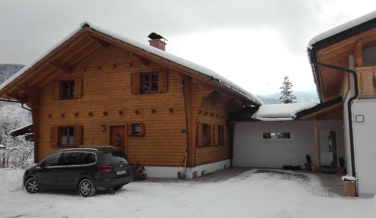 Unser Haus von vorne im Winter