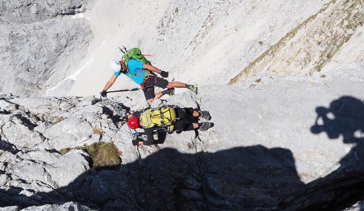 Gr. Priel Klettersteig Holger Friedl Manuela 10.10.2018 10-13-50 (© TVB Pyhrn-Priel/Kniewasser)