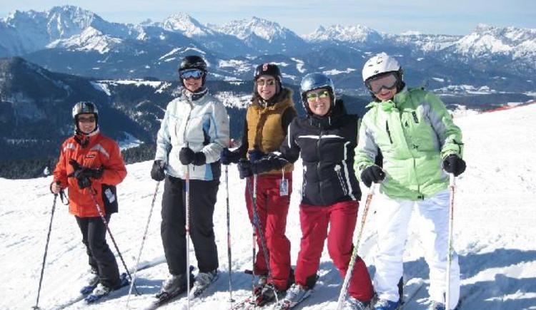Skifahrer im Skigebiet Hintersee-Gaissau (© Tourismusverband Faistenau)