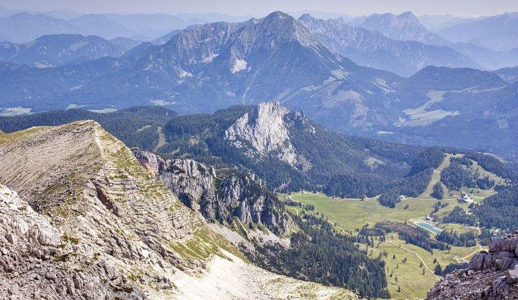 Talblick vom Warscheneck zur Wurzeralm (© TVB Pyhrn-Priel/Sulzbacher)