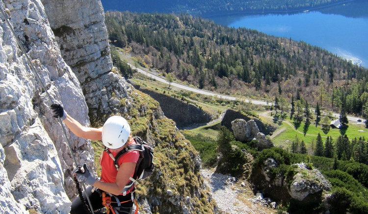 It´s sporty at the via ferrata
