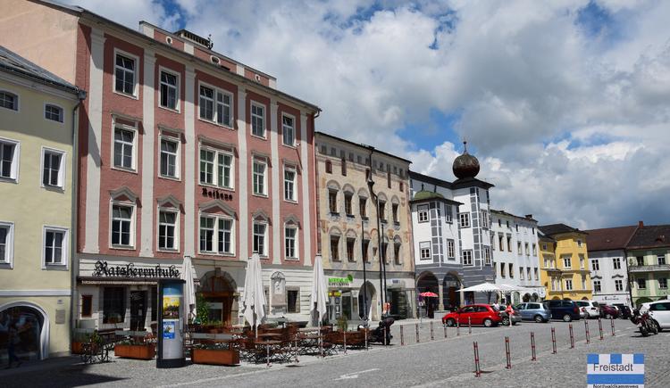 NWKW_Tag04_Freistadt_Hauptplatz. (© DI Gerd Simon, Alpenverein Freistadt, Arge Nordwaldkamweg)