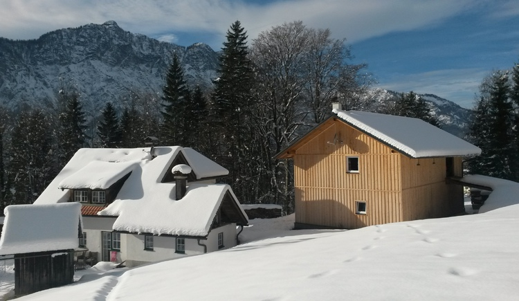 Wonderful winter panorama from the house Waldbankerl in Bad Goisern