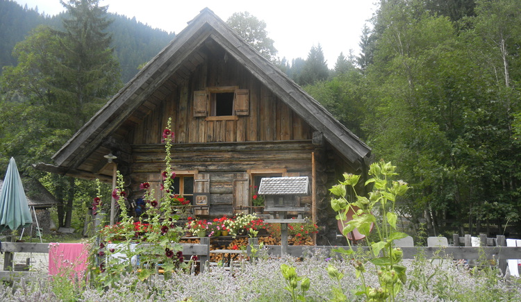 Aussenansicht unserer Hütte