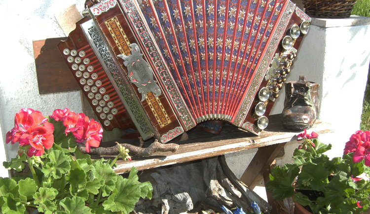 Theaccordion is a typical instrument for the Inner Salzkammergut.