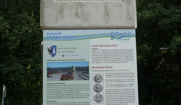 Römer-Rastplatz am Donauradweg Vichtenstein
