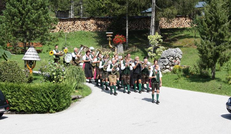 Die Gebirgsmusik Bad Goisern auf der Halleralm