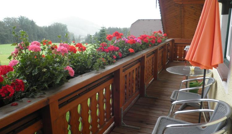 Balkon mit wunderschönem Ausblick in die Berglandschaft (© Vorderschwandtgut - Fam. Wörndl)