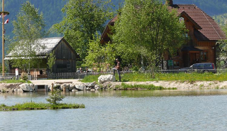 Fischen im Stiegerteich (© Familie Pliem_Jausenstation Stieger)