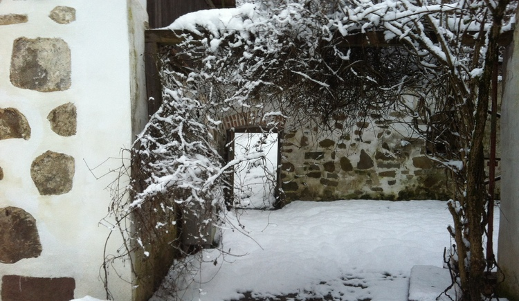 Durchgang Innenhof Bauernhof