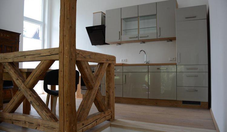 Kitchen of apartment 3 (© Bramsauerhof Faistenau)