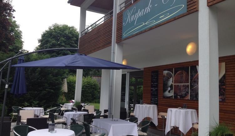 Café im Kurpark Bad Goisern.
