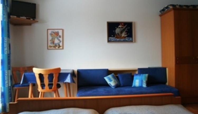 Blaues Zimmer Bett