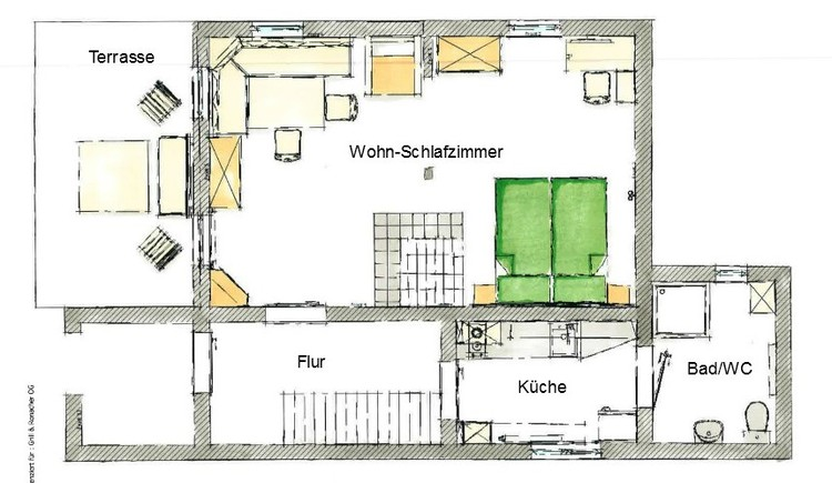 Map of the house Ramsau.