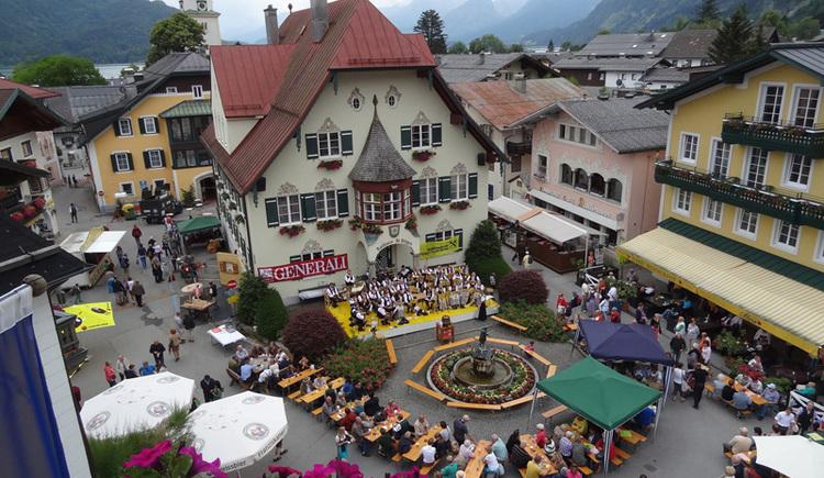 Dorffest am Mozartplatz in St. Gilgen am Wolfgangsee. (© WTG)