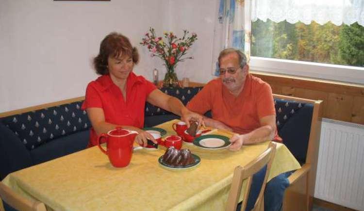 Ihre Gastgeber Familie Hillbrand freut sich auch ihren Besuch