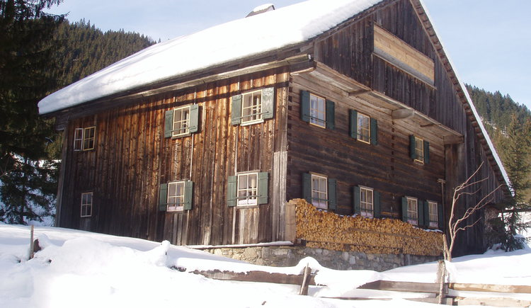 The exterior view in winter