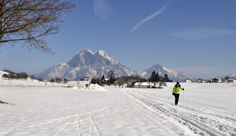 POLAR-Loipe in Neukirchen mit traumhaftem Blick auf den Traunstein