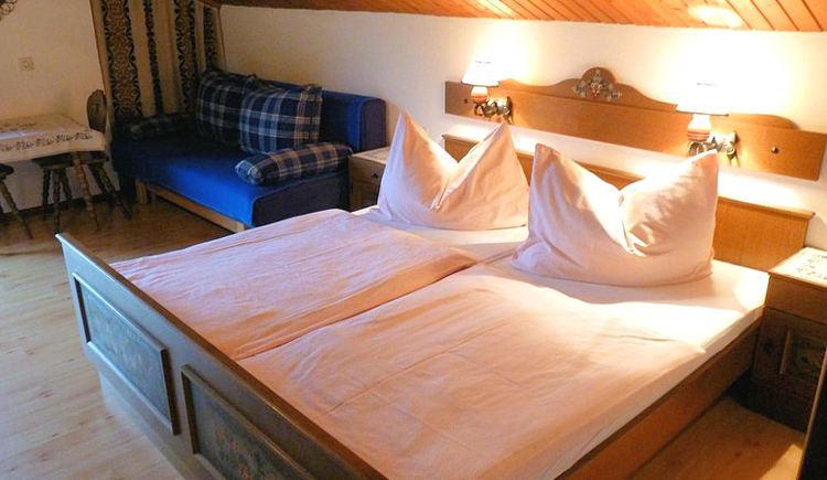Ferienwohnung - Schlafbereich