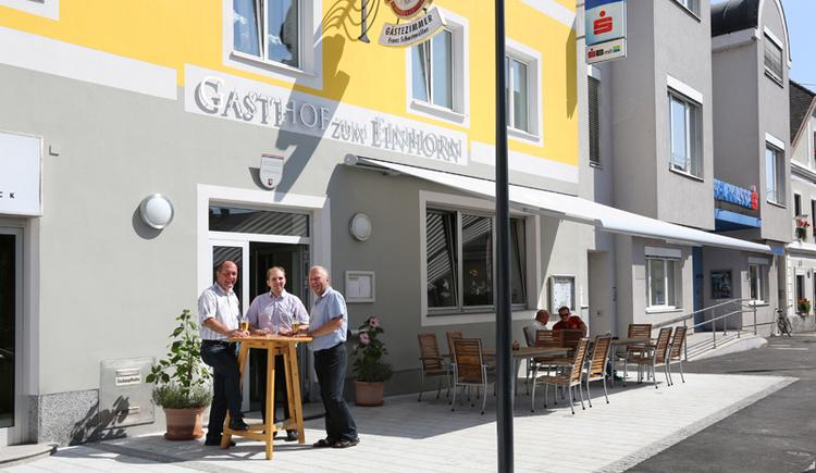 Gasthof Zum Einhorn, Gastgarten