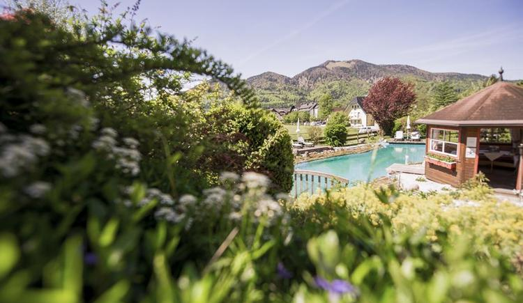 Schwimmteich und Hütte vom Hotel Garni Sonnleitn (© Hotel Garni Sonnleitn)