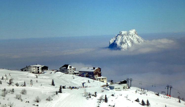Familienfreundliches Skigebiet am Feuerkogel in Ebensee am Traunsee im Salzkammergut. (© MTV Ferienregion Traunsee - Tourismusbüro Ebensee)