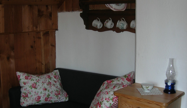 Small walk-through room on the 1st floor of the cabin