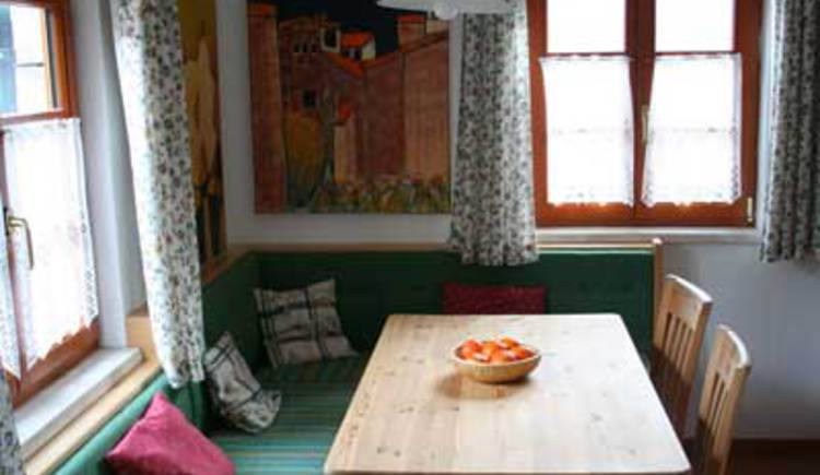 The Dining table of the house Cian in the City Center of Hallstatt