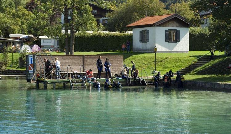 Tauchausbildungszentrum Attersee - Steg. (© Tauchausbildungszentrum Attersee)