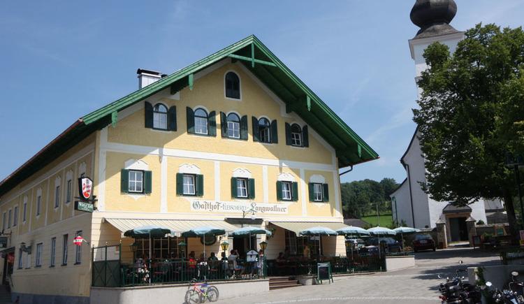 Blick auf das Gasthaus