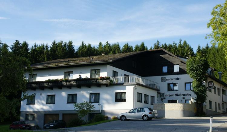 Gasthaus Rohrmoser -Sauereiwirt, Außenansicht. (© Alois Litzlbauer)