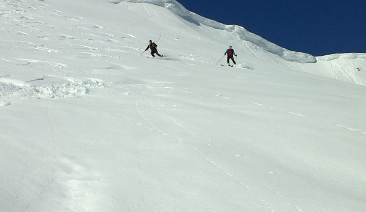 Skitour auf das Egelseehörndl, Abfahrt. (© WTG)