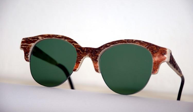 Unikatfassung einer Sonnenbrille aus Hirschhorn von Goisern Optik