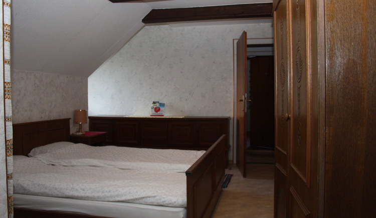 view of the beds in the bed room