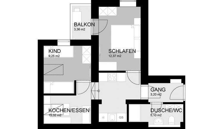 Zimmerplan FW Wiesenblick (© Familie Stöllinger)