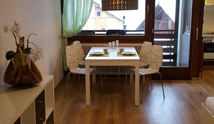 enjoy your meal at the cozy dining table