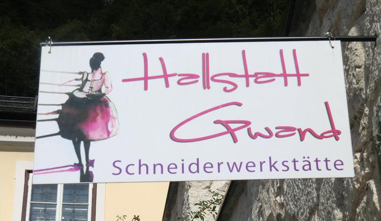 Die Schneiderwerkstätte im Zentrum von Hallstatt.
