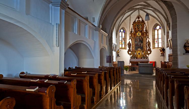 Pfarrkirche Pergkirchen (1088 erstmals urkundlich erw\u00e4hnt), innen. (© Stadtmarketing PERG - A.Schneider)