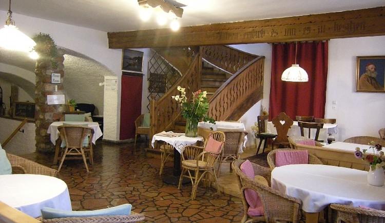 Der Frühstücksbereich im Gasthof Simony in Hallstatt