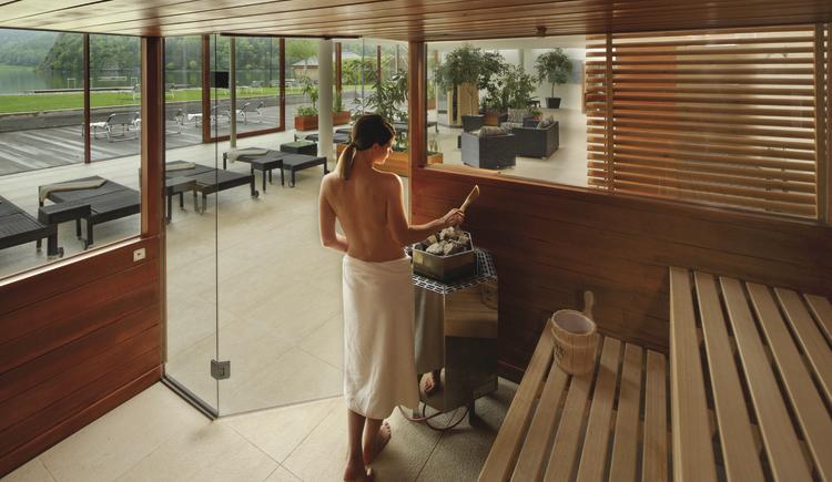 Sauna. (© Seehotel Brandauers Villen)
