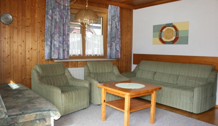 das komfortable Wohnzimmer