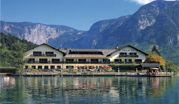 view of the hotel Haus am See