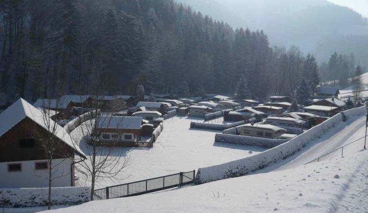 Winter am Campingplatz Pfaffenlehen (© Familie Unterbuchschachner)