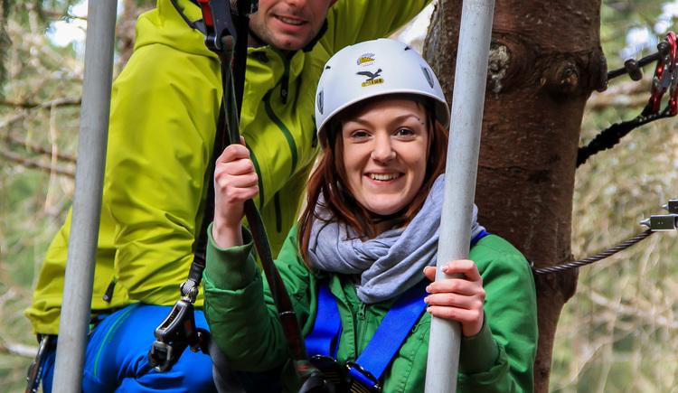 Vorfreude auf die Seilrutsche (© Ralf & Walter)
