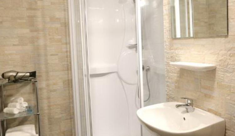 Badezimmer im Appartment