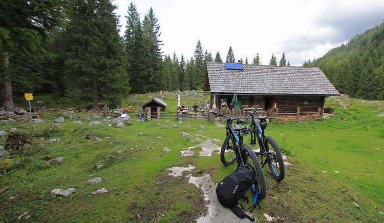 Finally at the hut!