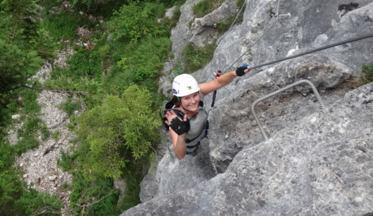 Naturesports, geführte High-Ropes-Alpin Tour auf den Poppenberg