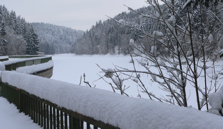 Ranna Stausee im Winter. (© TV Neustift)